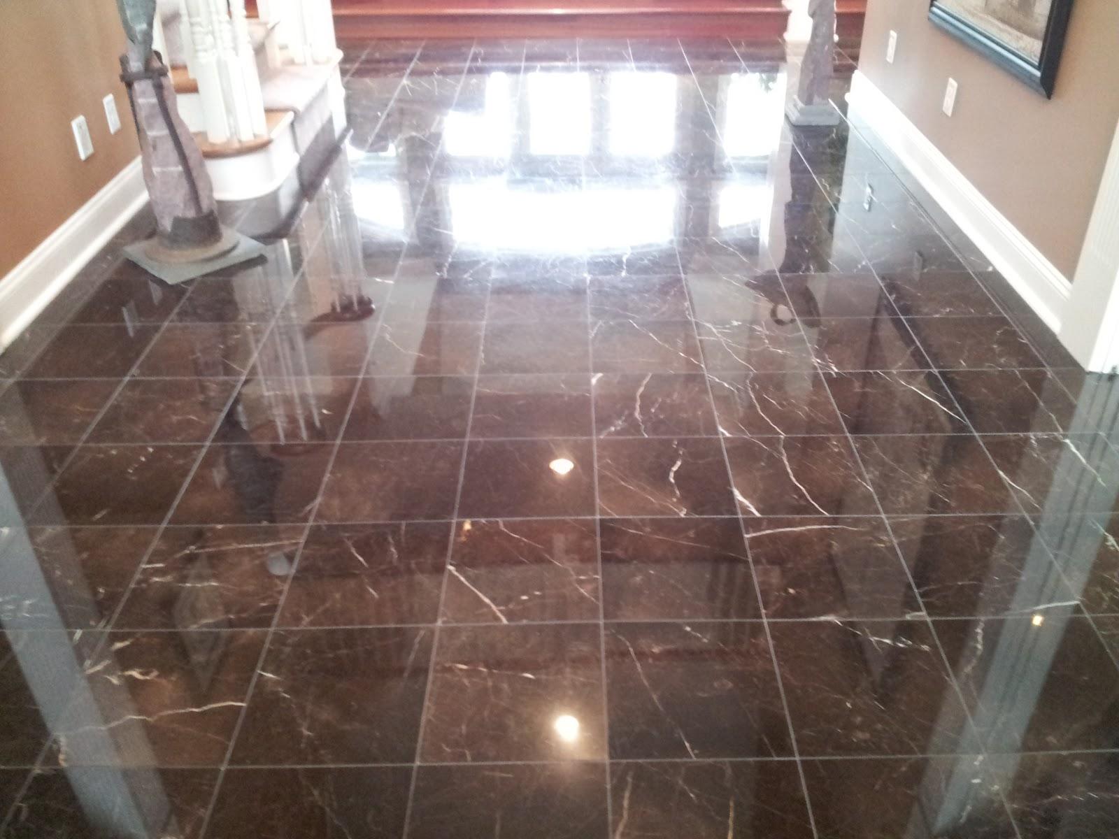 Marble Floor Installed In Buckingham Pa