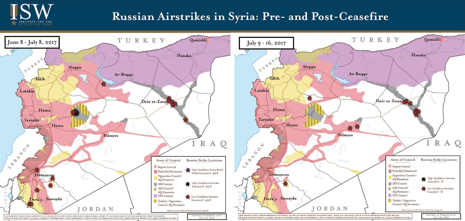 Russian Airstrikes in Syria: Pre- and Post-Ceasefire