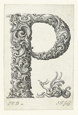 Letter P from Libellus Novus Elementorum Latinorum by Johann Christian Bierpfaf, c. 1650, Rijksmuseum Collection