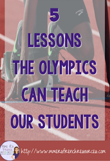 This blog post discusses 5 lessons the Olympics can teach our kids.  This is great for a classroom or for families to discuss at home.  Click here to read the 5 lessons!
