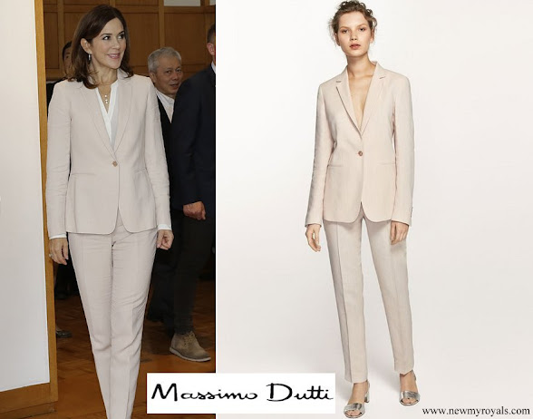 Crown Princess Mary wore Massimo Dutti Pant Suit