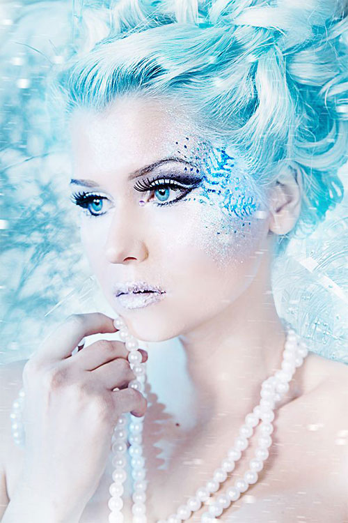 Ideal Bridal Makeup : Dramatic Bridal Makeup Best Winter Wonderland bridal ...