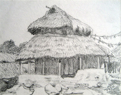 Sketch of Round House Landscape