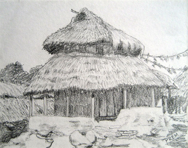Simple Rural House Landscapes