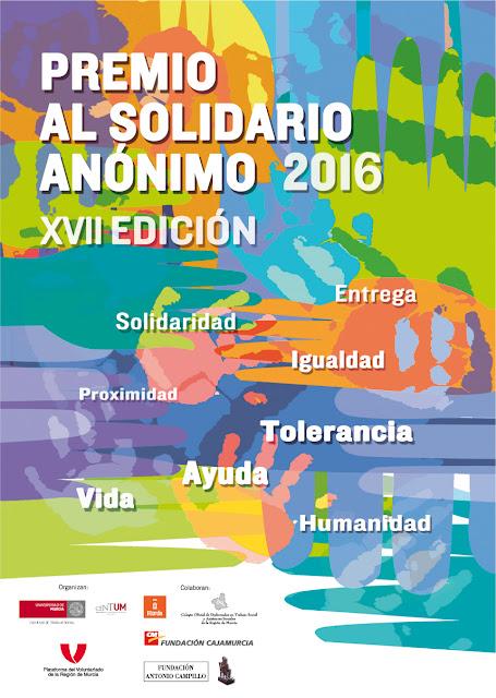 """Premio """"Solidario Anónimo 2016"""" para Antonio Barceló Sánchez."""