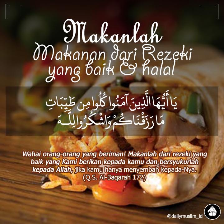 Makan Lah Dari Rezeki Yang Halal Apa Saja Makanan Yang