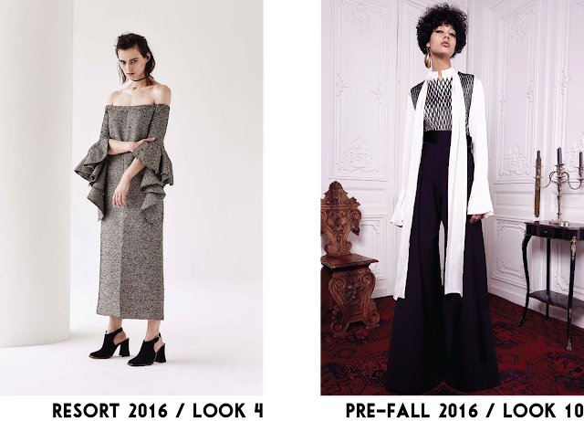Ellery Resort RTW collection 2016 trend off the shoulder wide leg