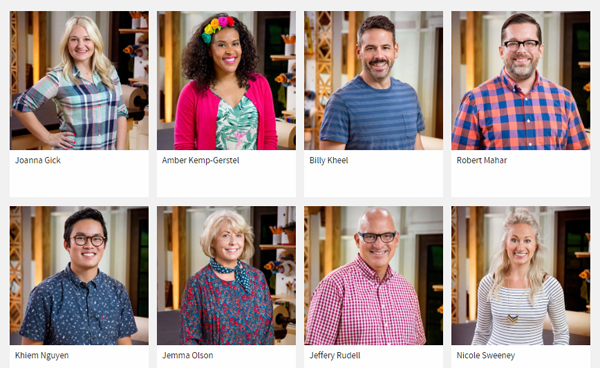 images of the eight contestants on 'Making It'