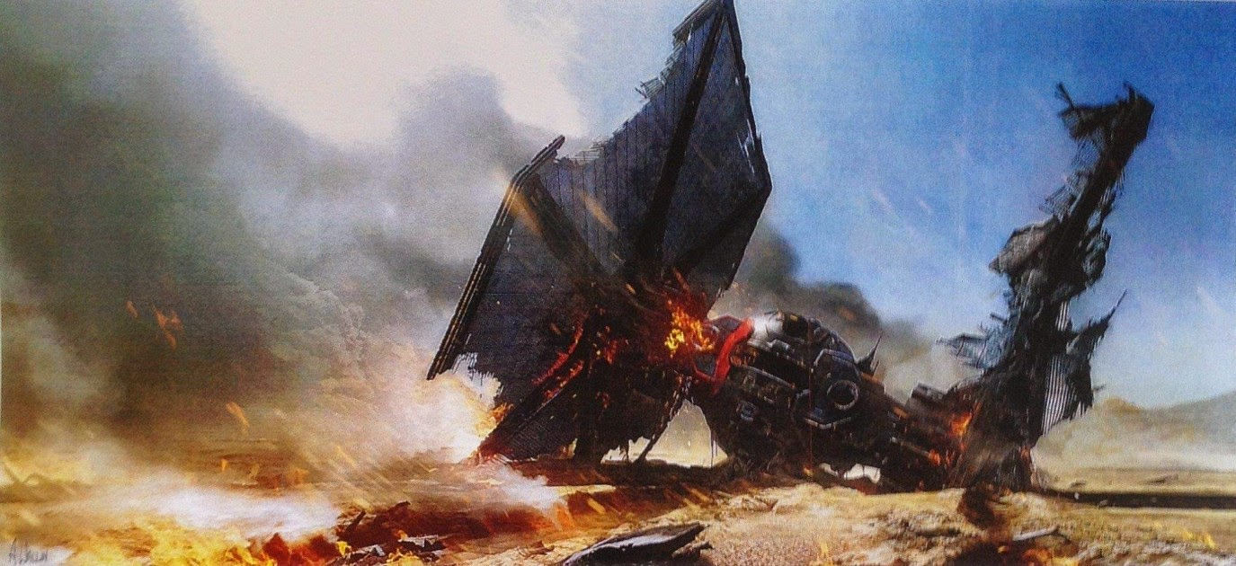 crashed tie fighter concept art