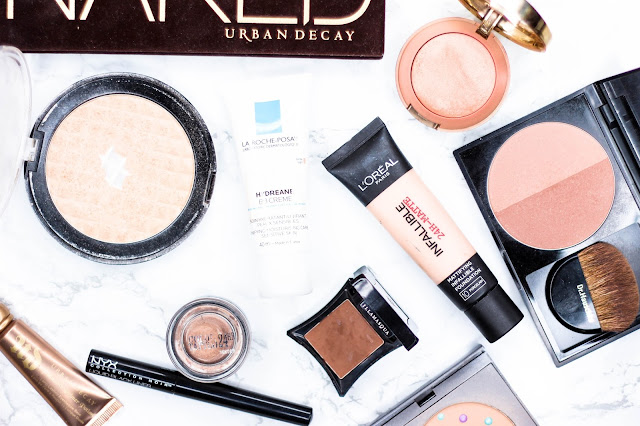 What's in my Makeup Bag, Face of the Day, Beauty, Makeup, Cosmetics, Flatlay