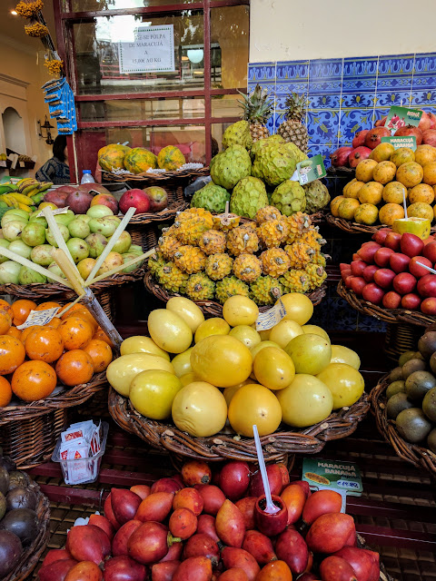 Passion fruit (maracuja) sold at Mercado dos Lavradores on Funchal, Madeira