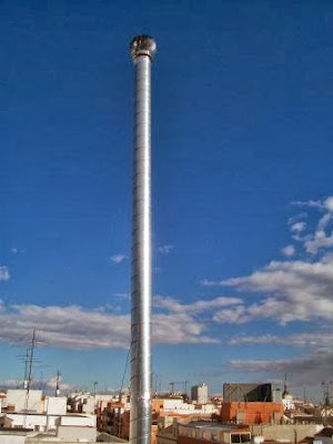 foto alargar tubos chimenea en madrid
