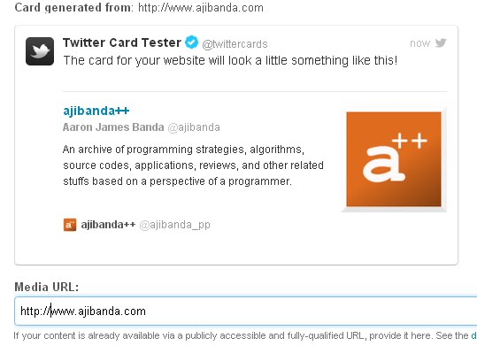 Adding Twitter Card Meta Tags to you Blogspot Blogs