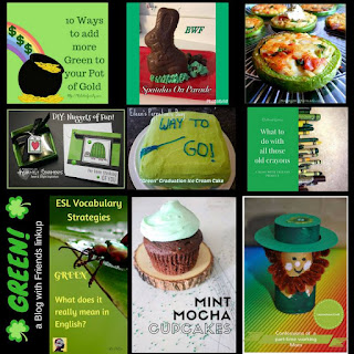 Blog With Friends, monthly projects based on a theme. This month's theme is Green. | Collage by Lydia of Cluttered Genius | Presented on www.BakingInATornado.com | #recipe #DIY #tutorial