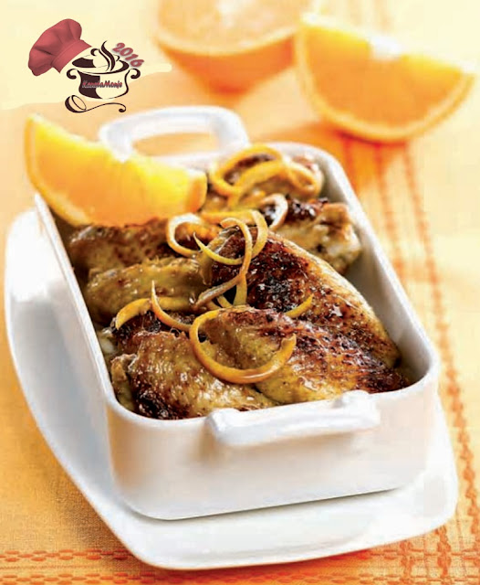 Alitas de Pollo con salsa de Naranja