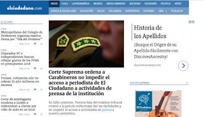 Corte Suprema acoge recurso de protección y ordena a Carabineros no impedir el acceso a periodista  de El Ciudadano a conferencias y puntos de prensa