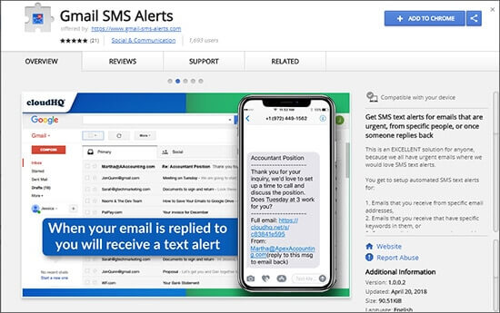Get Unlimited SMS Alerts whenever there are significant e-mails in Gmail