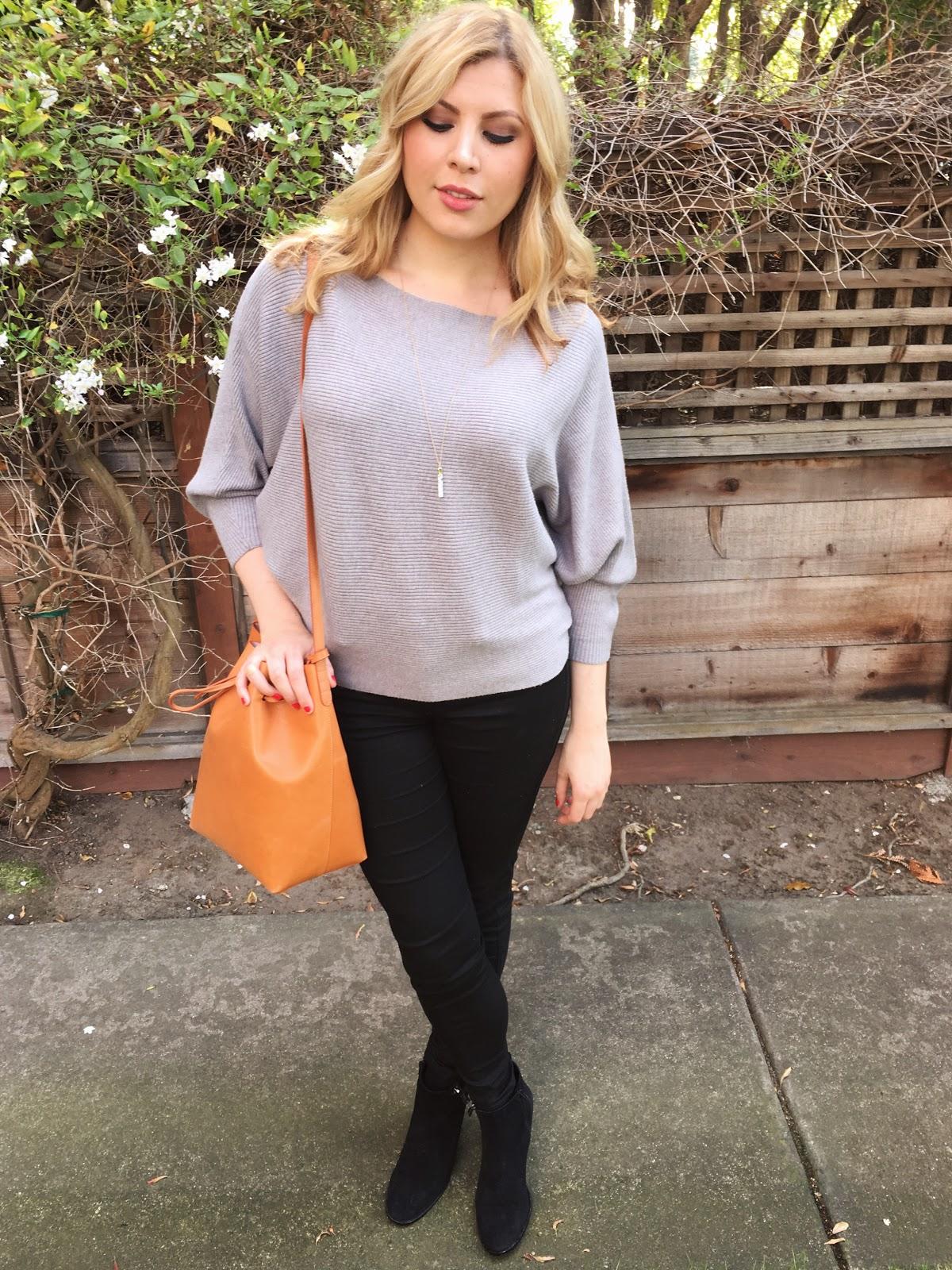 Zara Light Grey Batwing Sweater Review
