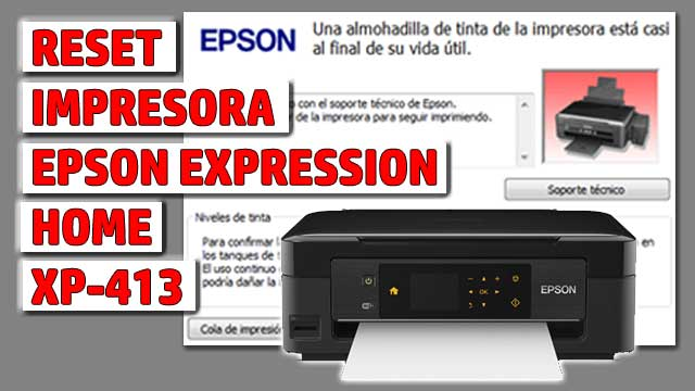 Reset impresora EPSON Expression Home XP-413