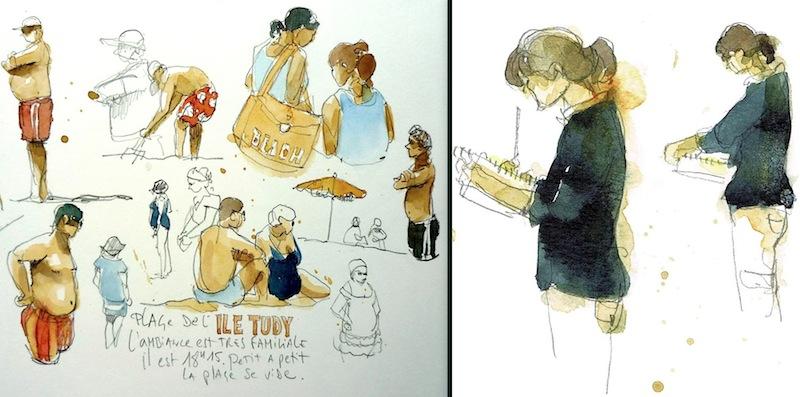 urban sketchers france rencontrez les correspondants jean marie drouet les sables d 39 olonne. Black Bedroom Furniture Sets. Home Design Ideas