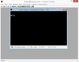 image of crestron tool box text console tool