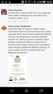 cerebrofort marine gummy mango flavour