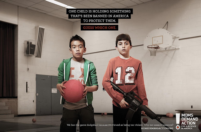 Moms demand action School safety ads. What is allowed and what is prohibited. Dodgeball is too violent