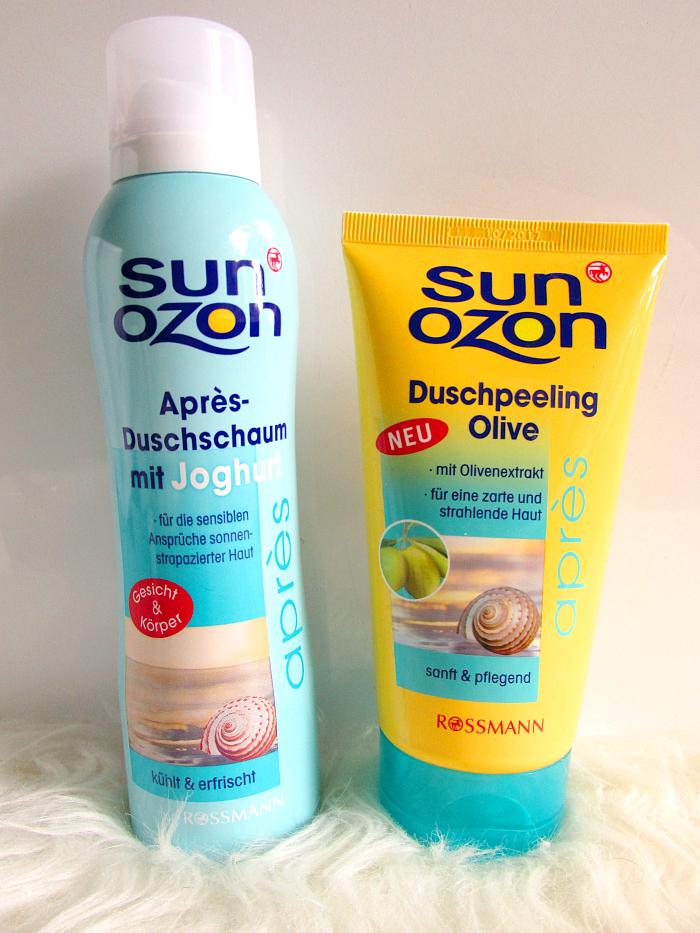 SunOzon Aprés Duschschaum & Duschpeeling Olive