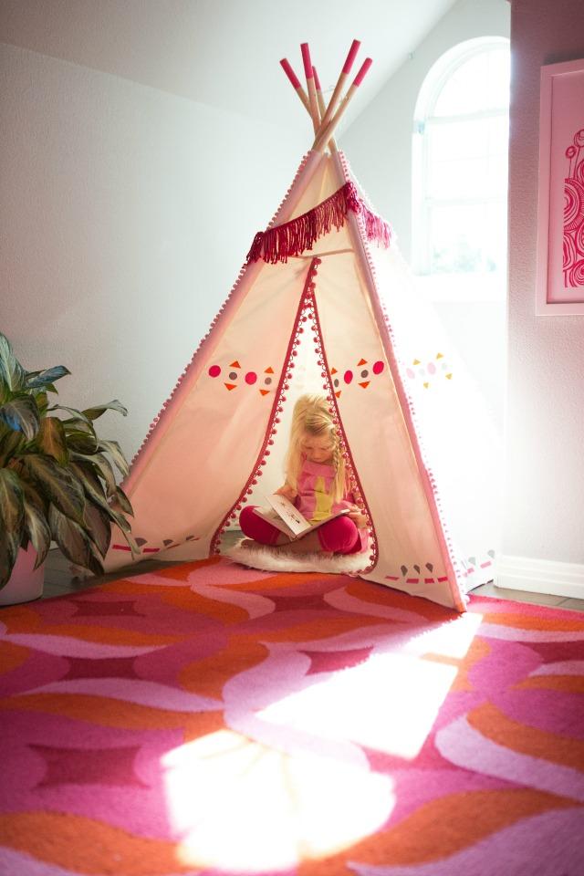 Diy Painted Kids Teepee Design Improvised