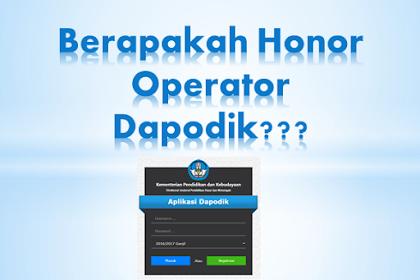 Honor Operator Dapodik Terbaru