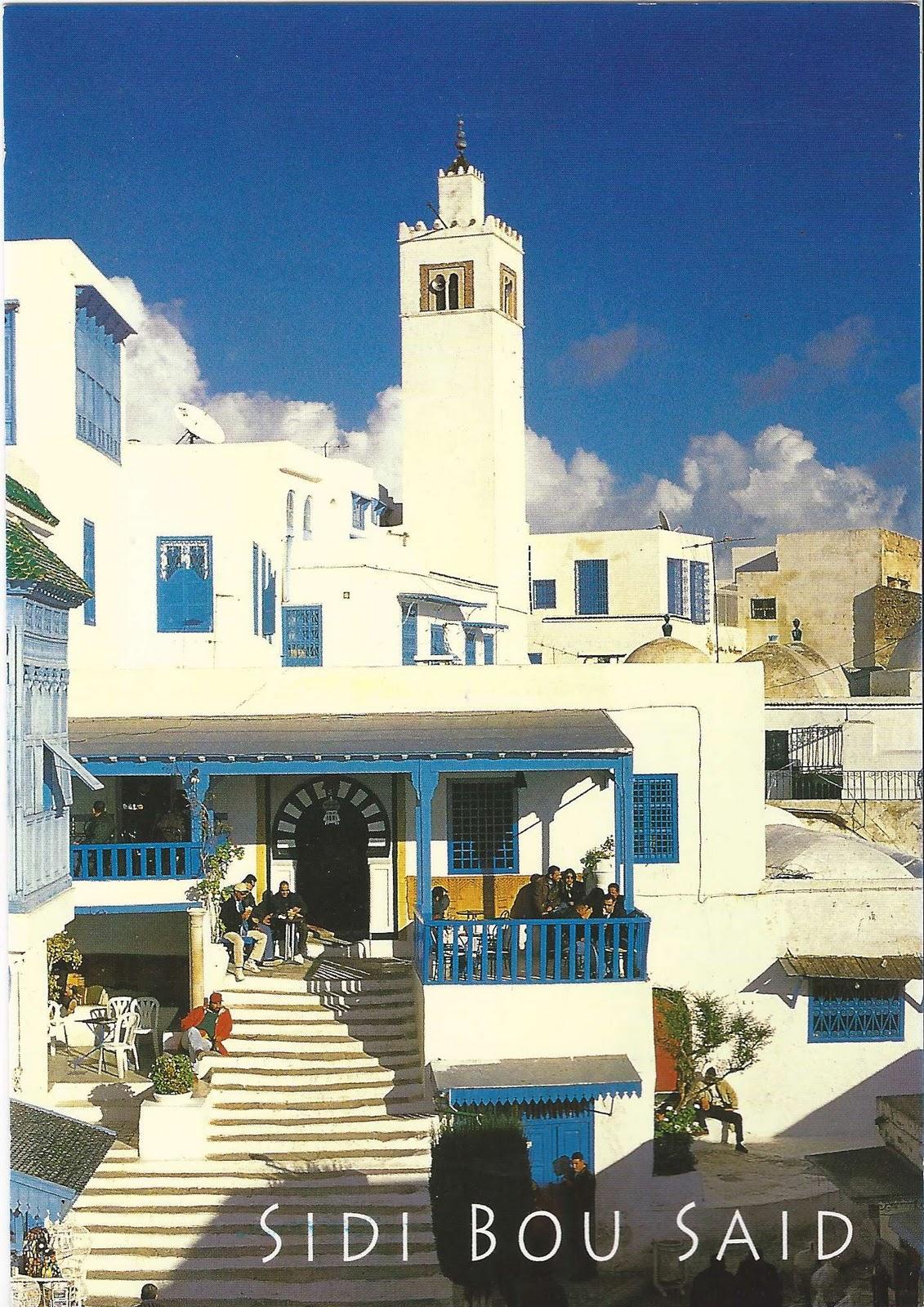 A Journey Of Postcards Caf 233 Des Nattes In Sidi Bou Said