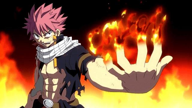 Selain ahli menggunakan jurus api, Natsu juga seorang Dragon Slayer (pembunuh naga)