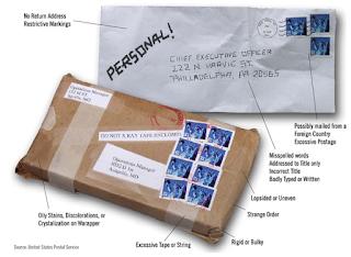 for policeman- letter bomb
