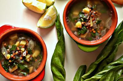 Lebanese Lentil & Chard Soup (Adas bi Hamoud)