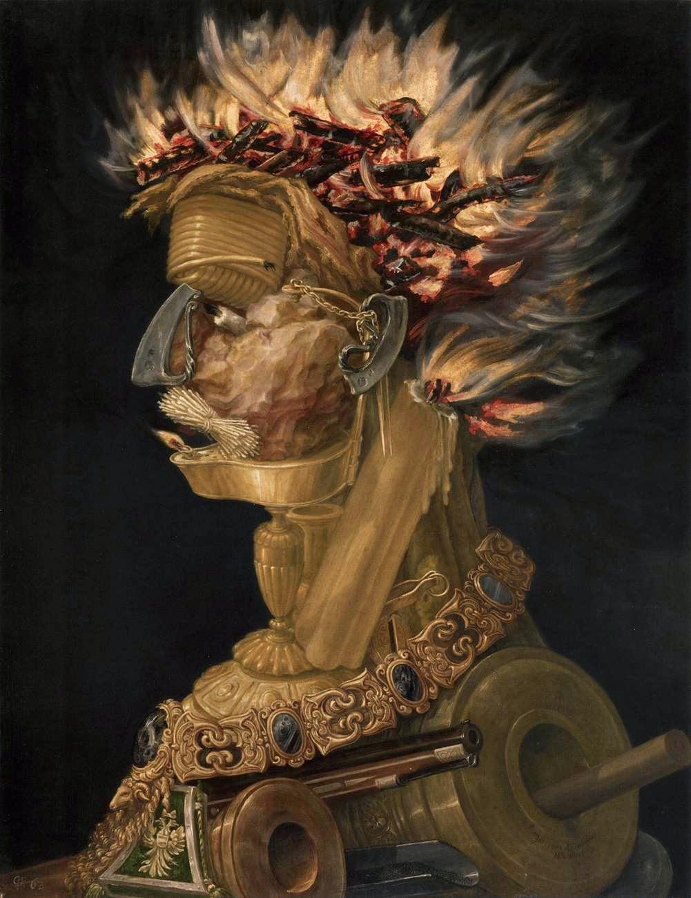 """Fogo - Giuseppe Arcimboldo e suas fantásticas pinturas ~ Inclui """"As Quatro Estações"""""""