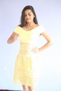 Shipra gaur in V Neck short Yellow Dress ~  077.JPG