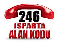 0246 Isparta telefon alan kodu