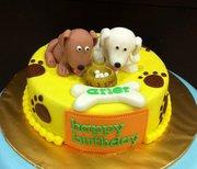 Celebration Cake Dog Theme
