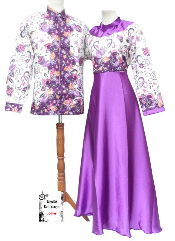 60 Model Gamis Batik Kombinasi Polos Muslimah Modern 2020