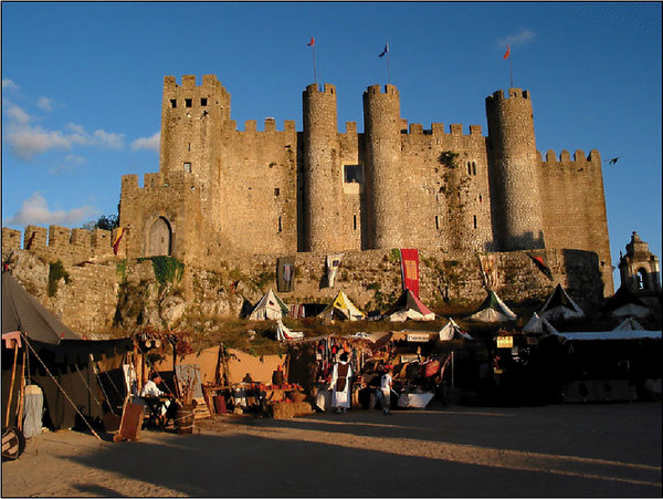a fair outside the castle