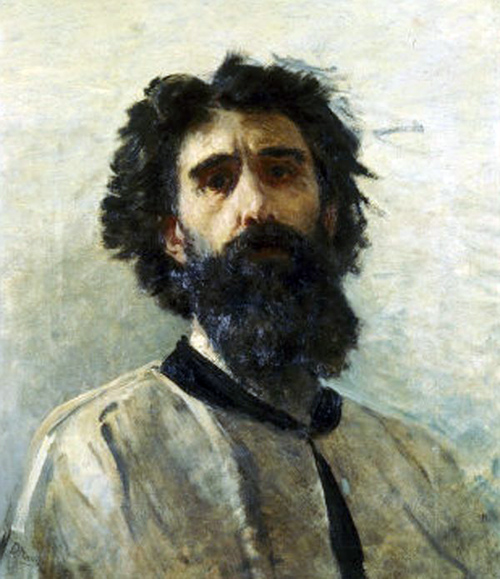 Domenico Morelli, Self Portrait, Portraits of Painters, Fine arts, Portraits of painters blog, Paintings of Domenico Morelli, Painter Domenico Morelli