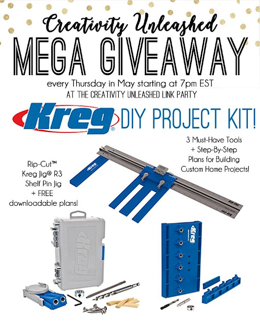 Creativity unleashed 120 and a kreg project kit giveaway for Www projectplans com