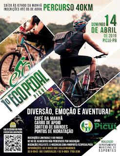 Com mais de 120 inscritos, Ecopedal acontece neste domingo em Picuí