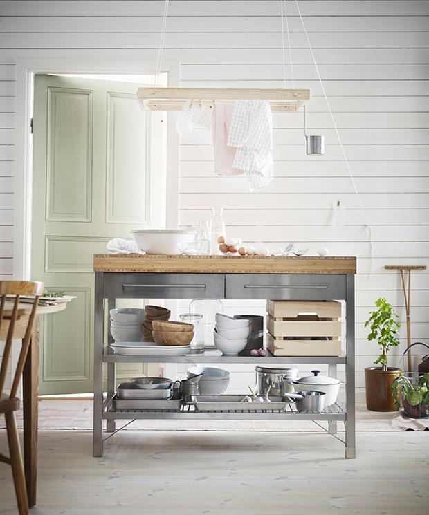 Mobili Cucina Ikea Credenza Acciaio | Damesmodebarendrecht