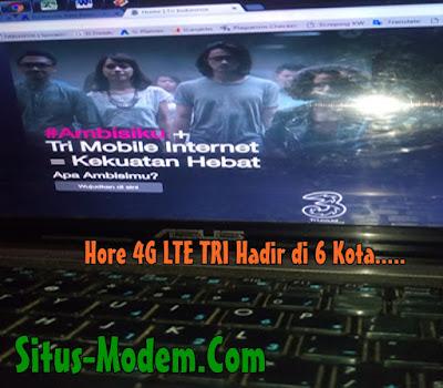 Inilah 6 Kota yang Sudah Tercover Jaringan 4G LTE Tri