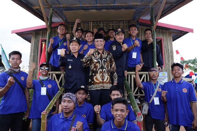 Gubernur Kalsel Buka Kemah Karya Bakti Wisata Karang Taruna