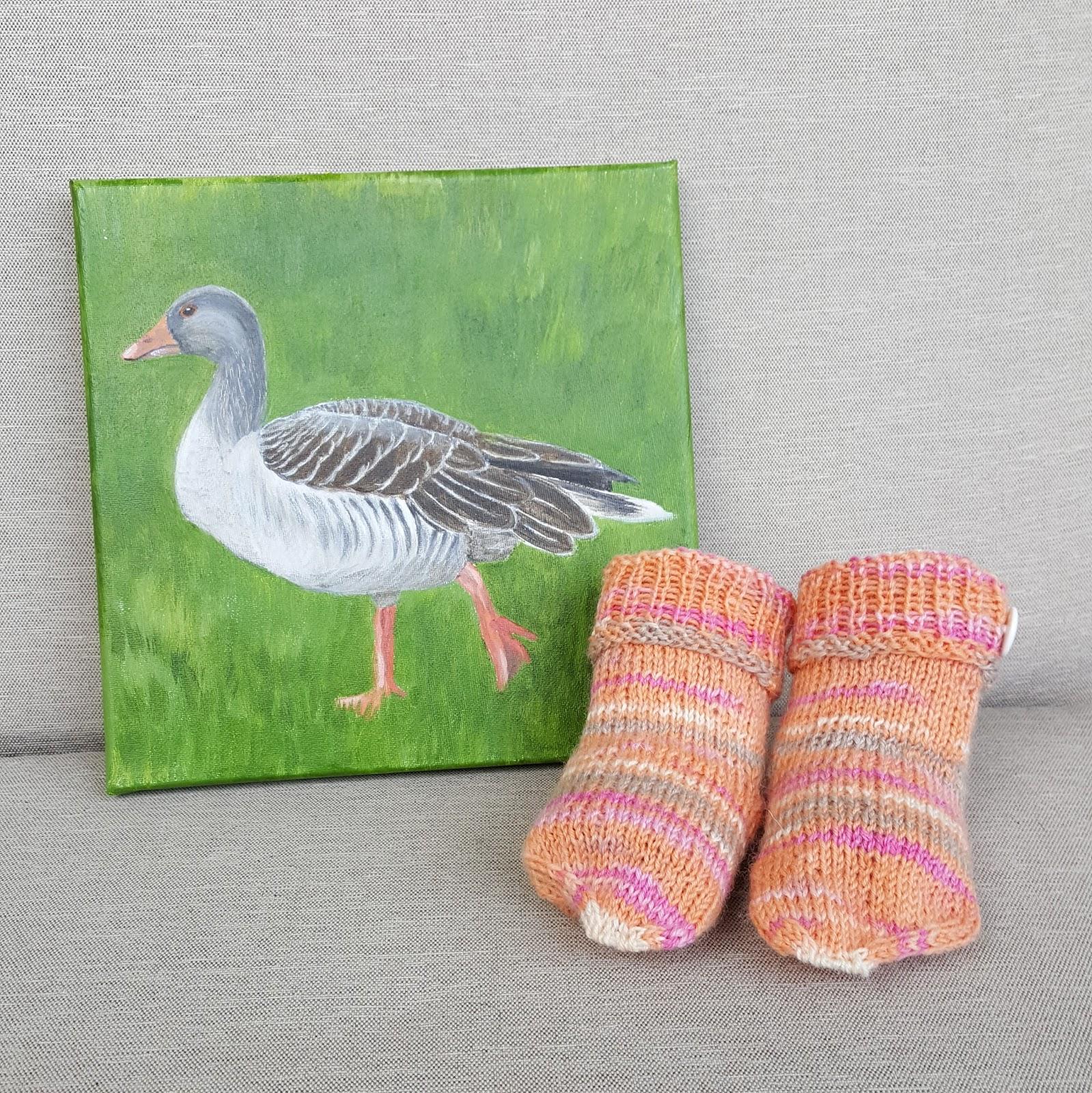 Daily Painting Carola Mehring Wohlfühl-Socken: 2018