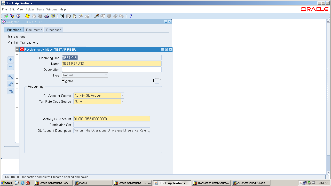ORACLE APPS FUNCTIONAL: Oracle Accounts Receivables Setup