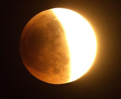 Gambar Gerhana Bulan Sebagian Separo  Gambar Gerhana