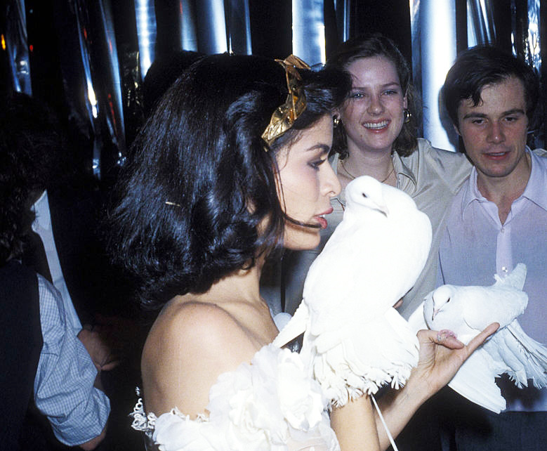 Bianca Jagger at Halston Party for Bianca Jagger on December 12, 1977 at Studio 54 in New York City. (Photo by Ron Galella, Ltd.) | 70s, vintage, chic style, romantic, bohemian, victorian, baroque, aesthetic, inspiration | Allegory of Vanity